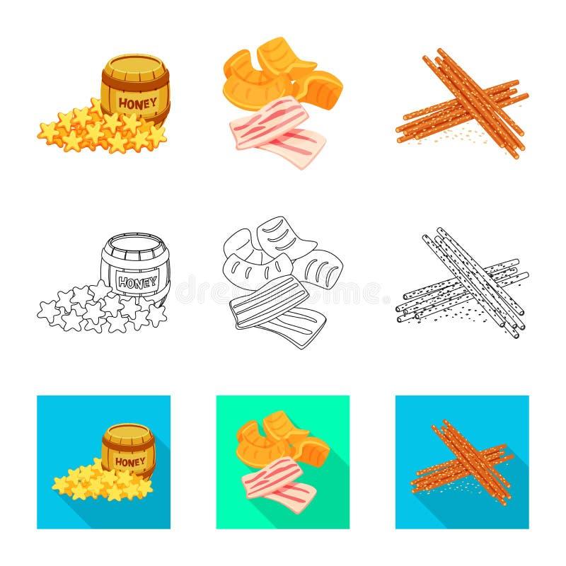 Vector illustration of taste and seasonin logo. Set of taste and organic   vector icon for stock. Isolated object of taste and seasonin icon. Collection of royalty free illustration