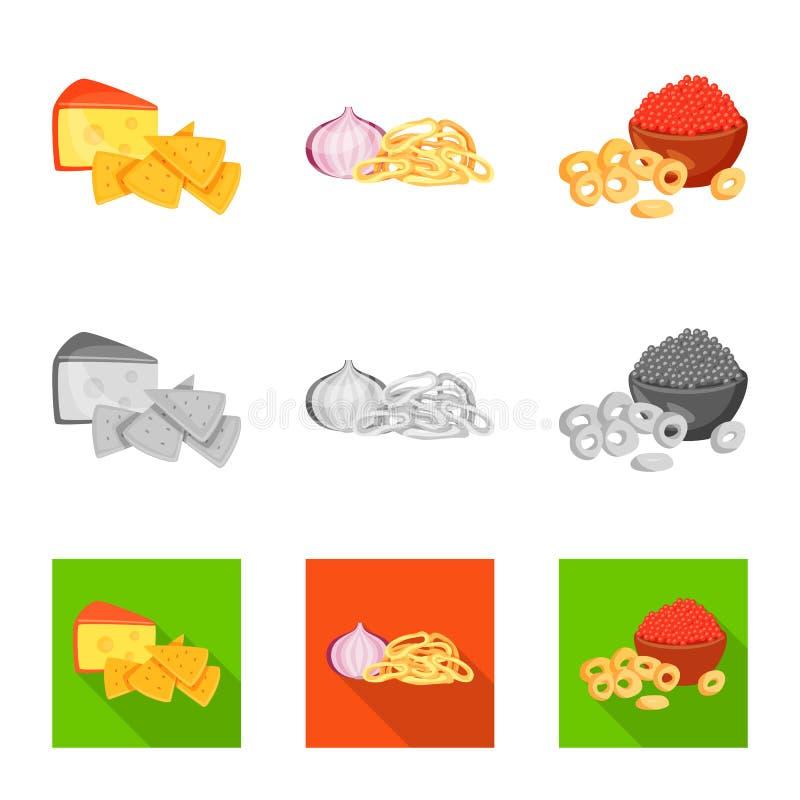 Vector illustration of taste and seasonin logo. Set of taste and organic   stock symbol for web. Isolated object of taste and seasonin icon. Collection of taste royalty free illustration
