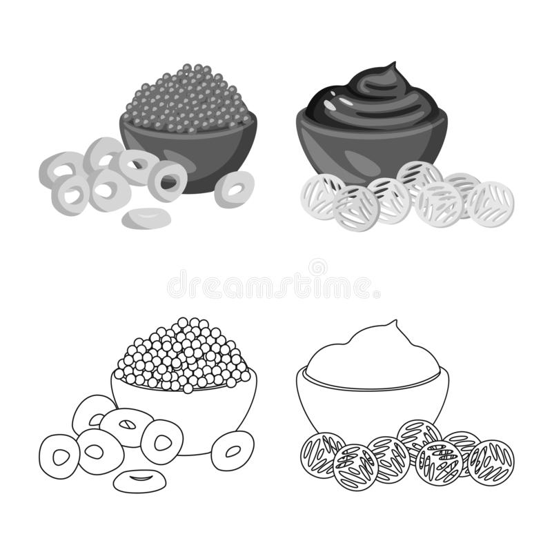 Isolated object of taste and seasonin icon. Set of taste and organic vector icon for stock. Vector design of taste and seasonin symbol. Collection of taste and royalty free illustration