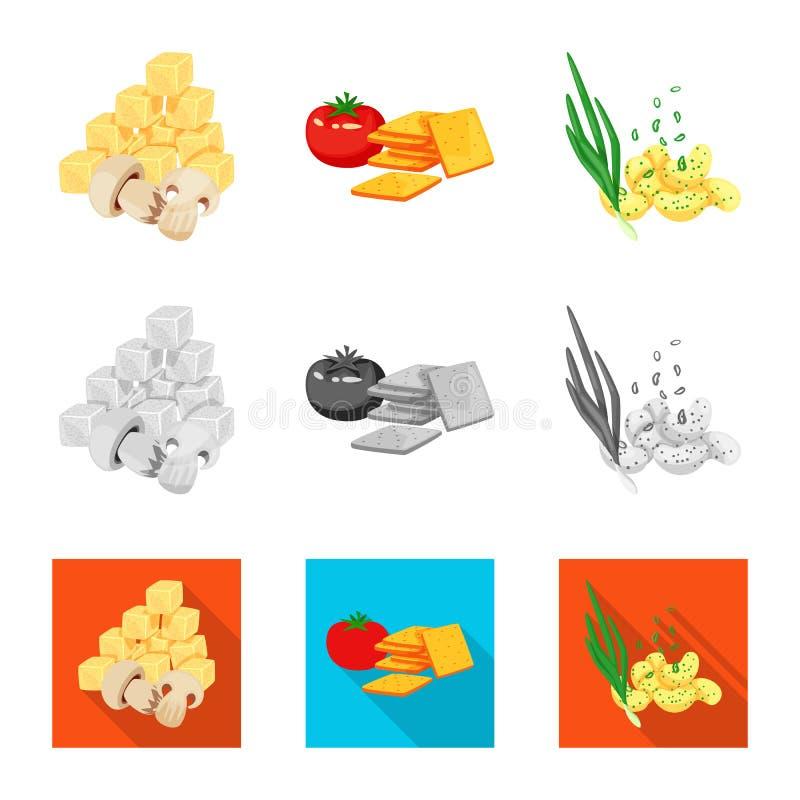 Vector illustration of taste and seasonin logo. Collection of taste and organic   stock vector illustration. Isolated object of taste and seasonin icon. Set of royalty free illustration