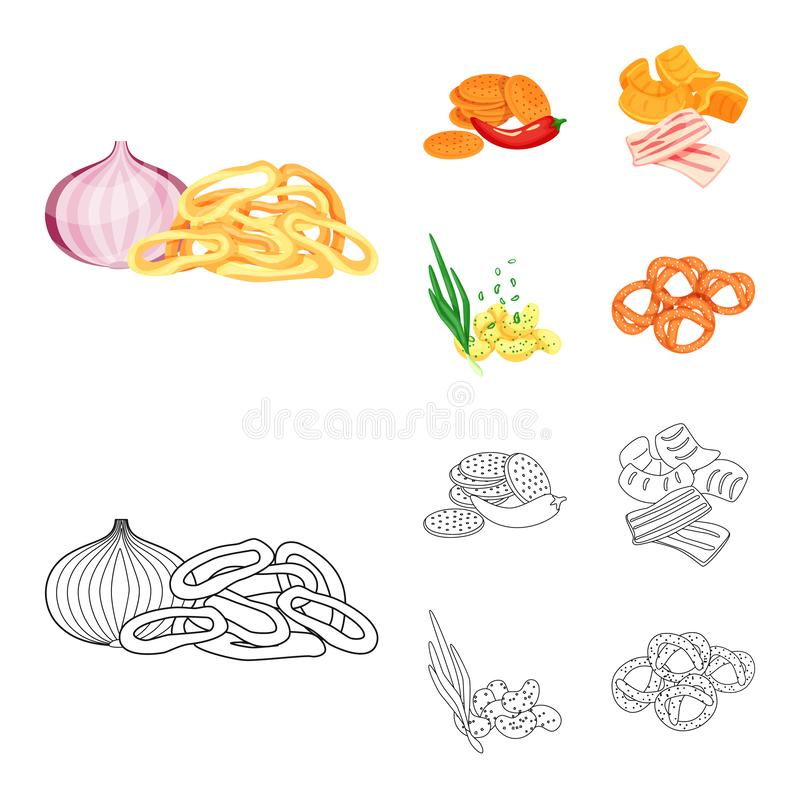 Isolated object of taste and seasonin logo. Collection of taste and organic stock vector illustration. Vector design of taste and seasonin icon. Set of taste vector illustration