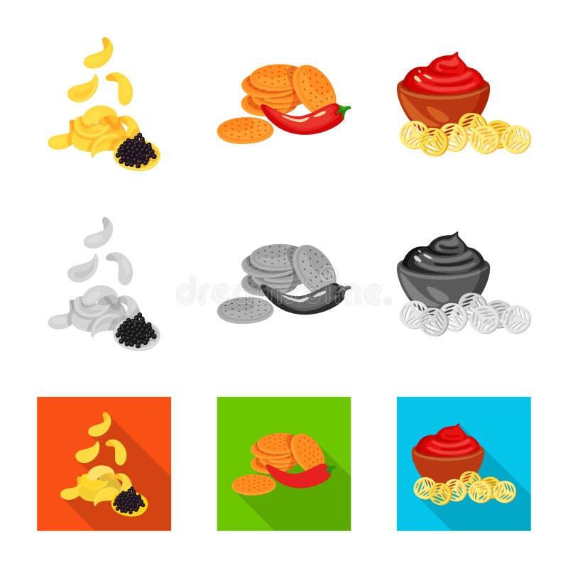 Vector illustration of taste and seasonin sign. Collection of taste and organic   stock vector illustration. Isolated object of taste and seasonin logo. Set of royalty free illustration