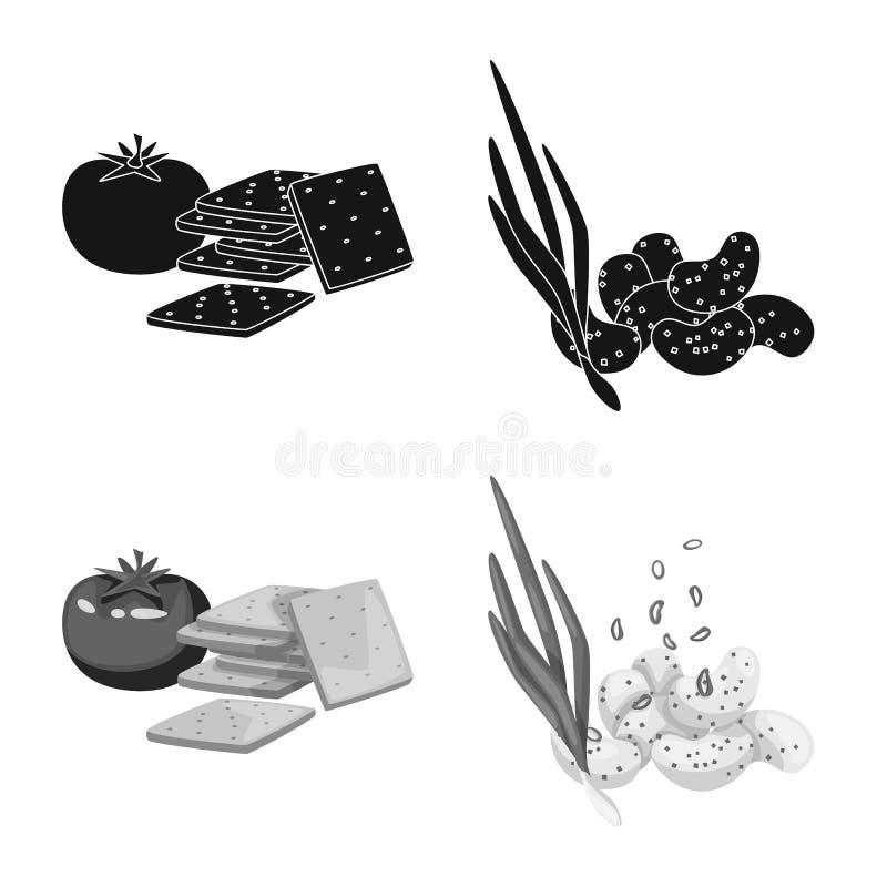 Vector illustration of taste and seasonin sign. Collection of taste and organic stock vector illustration. Isolated object of taste and seasonin logo. Set of stock illustration