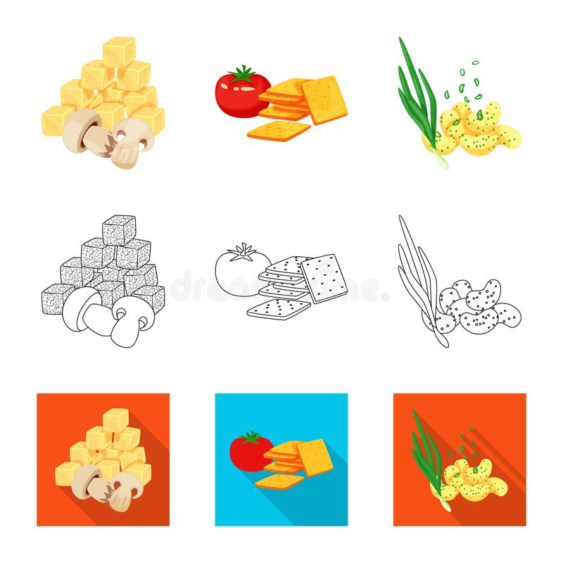 Isolated object of taste and seasonin sign. Set of taste and organic   stock vector illustration. Vector design of taste and seasonin logo. Collection of taste stock illustration