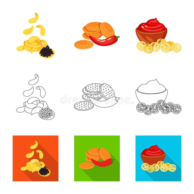 Vector illustration of taste and seasonin symbol. Collection of taste and organic   stock symbol for web. Isolated object of taste and seasonin sign. Set of stock illustration