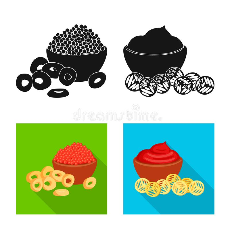 Vector illustration of taste and seasonin icon. Set of taste and organic stock vector illustration. Isolated object of taste and seasonin symbol. Collection of vector illustration