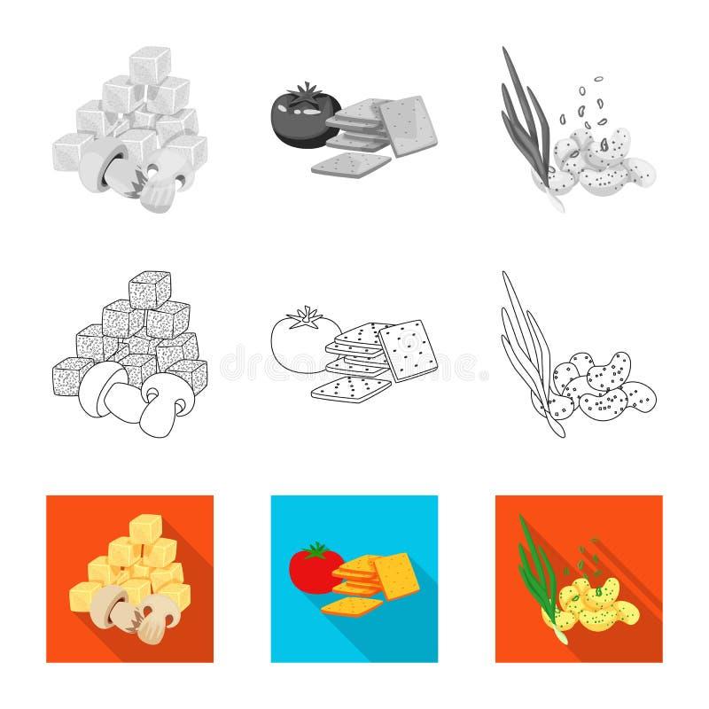 Vector illustration of taste and seasonin icon. Collection of taste and organic   vector icon for stock. Isolated object of taste and seasonin symbol. Set of royalty free illustration