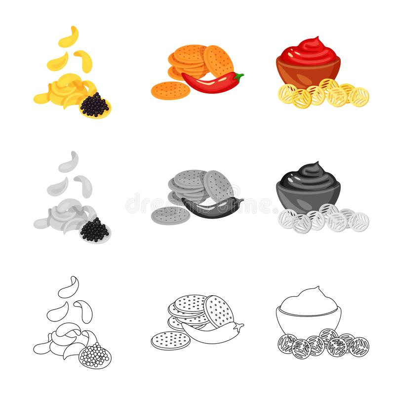 Vector illustration of taste and seasonin icon. Collection of taste and organic   stock vector illustration. Isolated object of taste and seasonin symbol. Set stock illustration