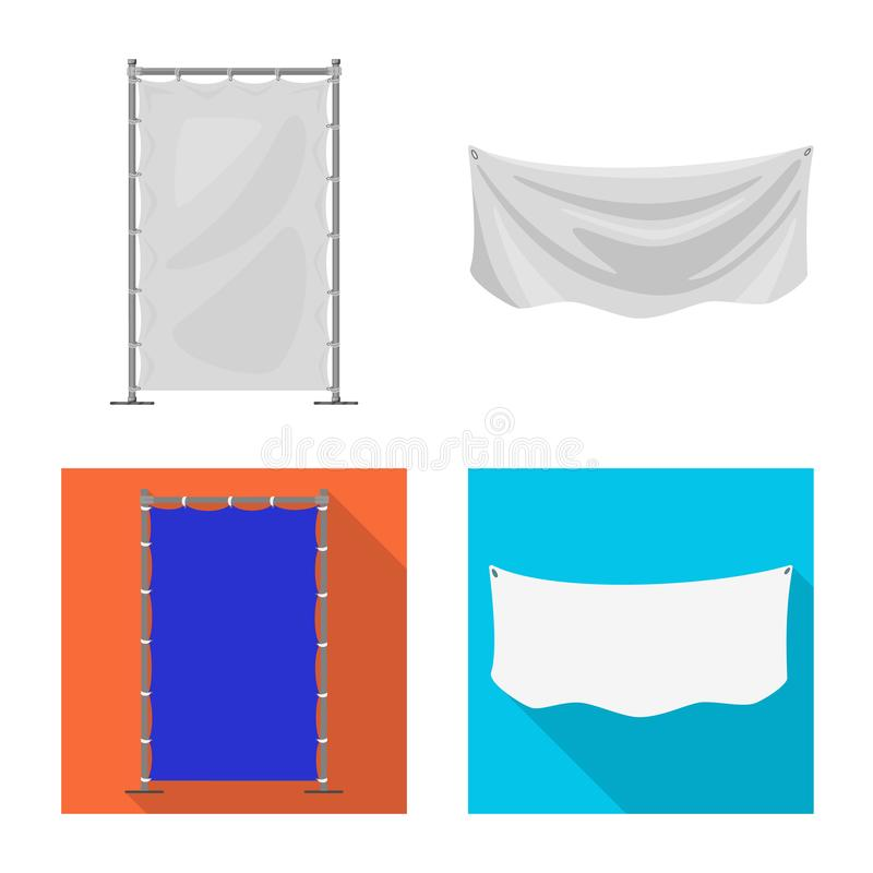 Isolated object of texture and presentation icon. Set of texture and media stock vector illustration. Vector design of texture and presentation symbol royalty free illustration