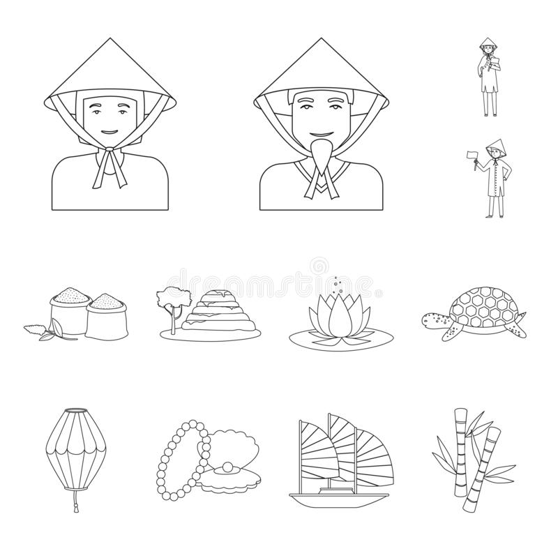 Vector illustration of traditional and travel logo. Set of traditional and landmark vector icon for stock. vector illustration