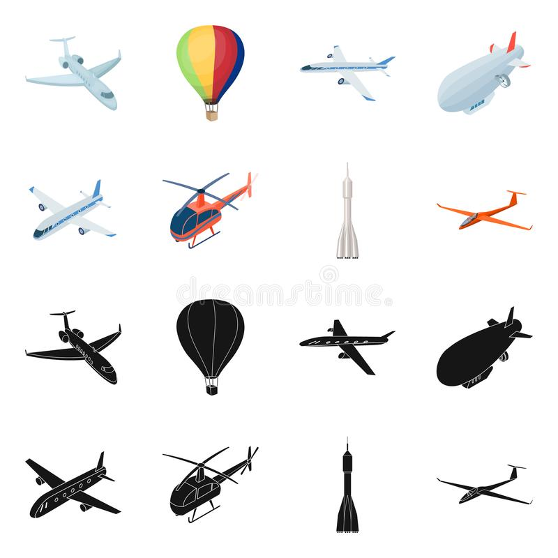 Isolated object of transport and object sign. Set of transport and gliding vector icon for stock. vector illustration