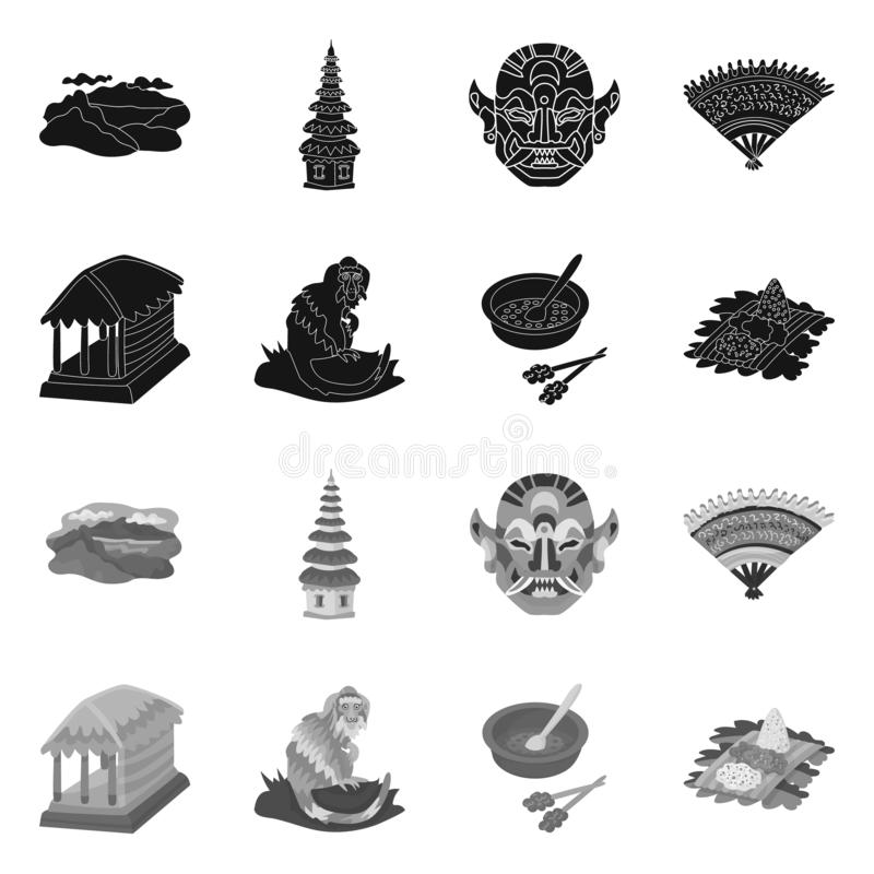 Isolated object of and travel logo. Collection of and traditional vector icon for stock. Vector design of and travel icon. Set of and traditional stock symbol stock illustration