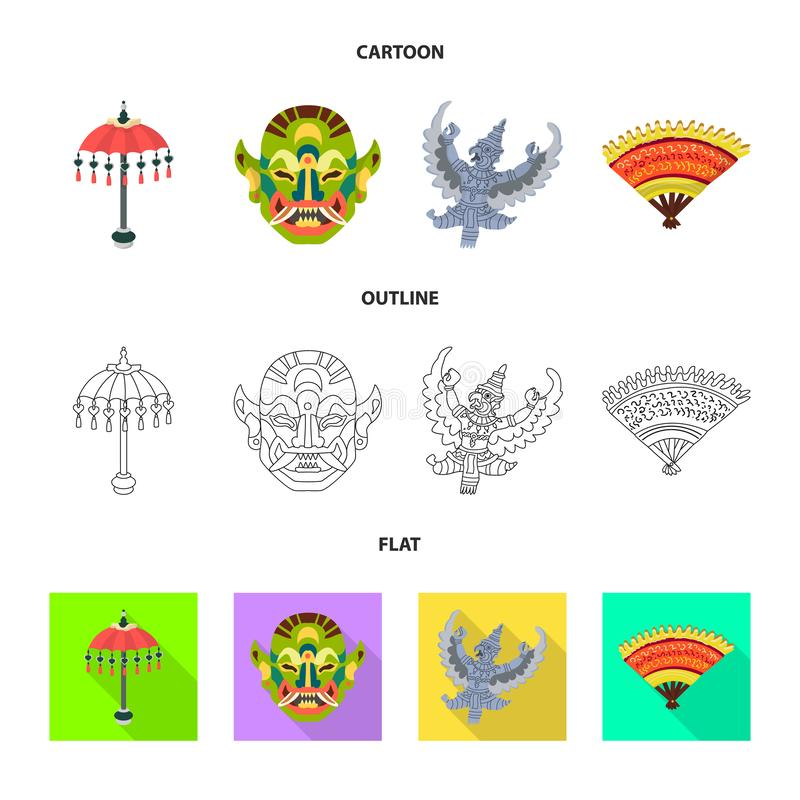 Vector illustration of and travel icon. Collection of and traditional stock vector illustration. Isolated object of and travel symbol. Set of and traditional vector illustration
