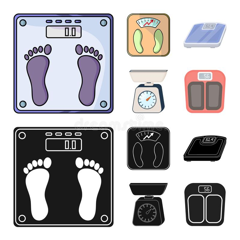 Isolated object of weight and lab logo. Collection of weight and kitchen vector icon for stock. Vector design of weight and lab icon. Set of weight and kitchen royalty free illustration