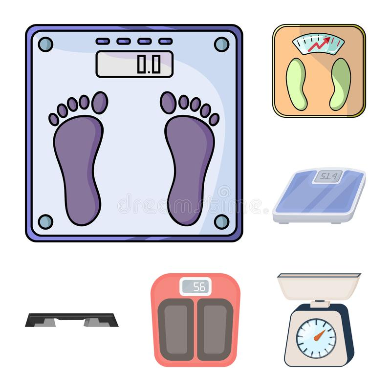 Isolated object of weight and lab logo. Set of weight and kitchen vector icon for stock. Vector design of weight and lab icon. Collection of weight and kitchen royalty free illustration