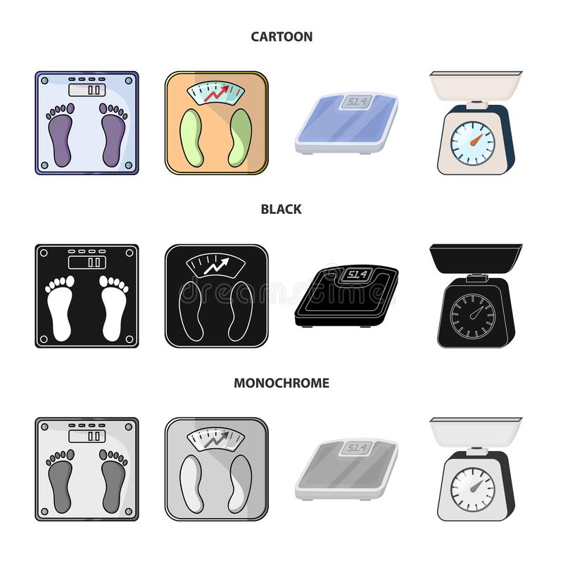 Isolated object of weight and lab sign. Collection of weight and kitchen vector icon for stock. Vector design of weight and lab logo. Set of weight and kitchen vector illustration
