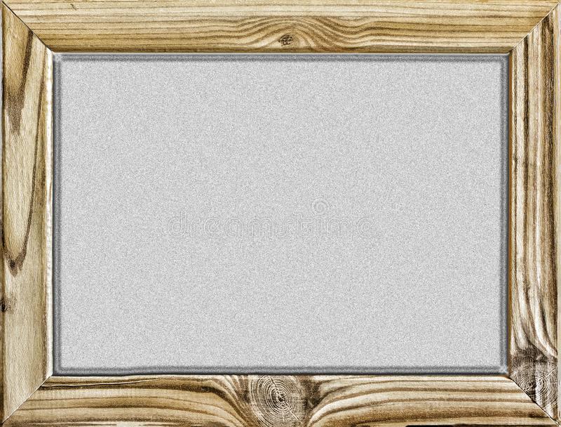 Isolated object. Wooden frame with black background, blackboard or school board isolated on white. Copy space for your text. Free royalty free stock image