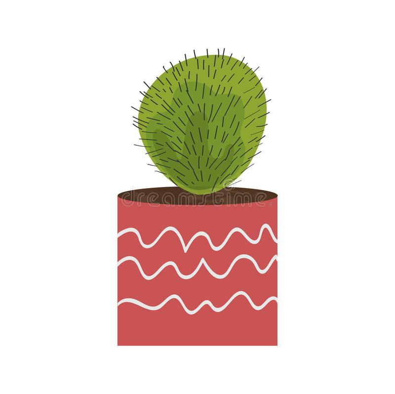 Isolated objects of indoor plants in watercolor style.cactus. Vector royalty free illustration