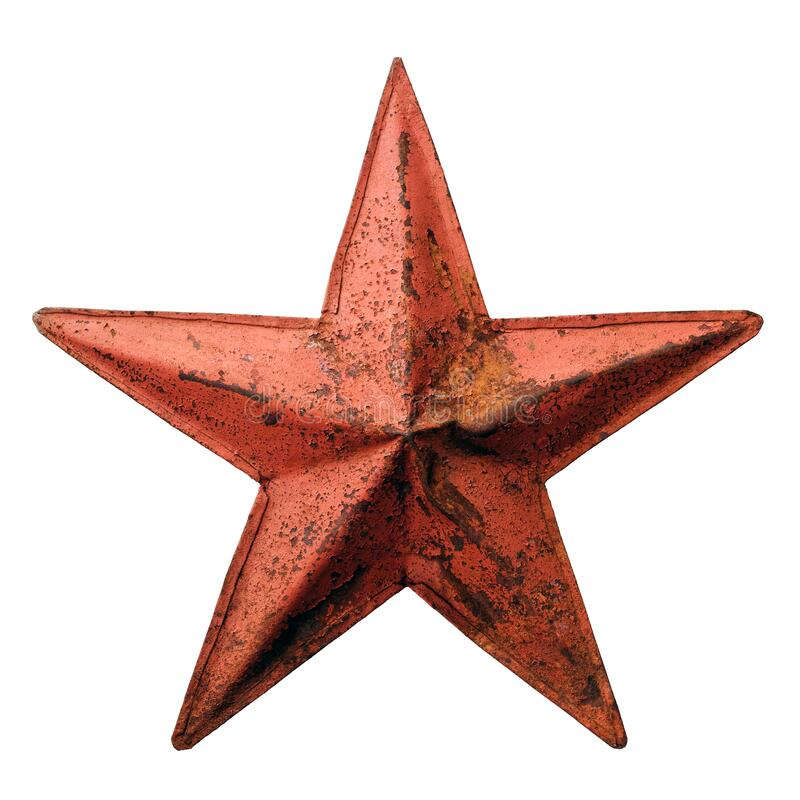 Old metal red star royalty free stock images