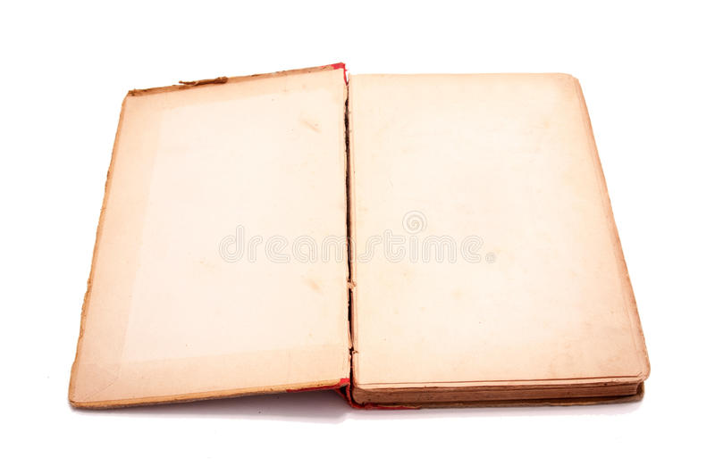 Isolated old book stock photography