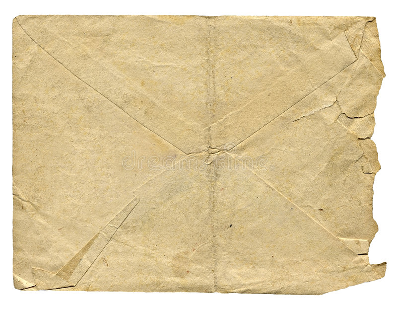 Isolated old envelope for letter stock photography