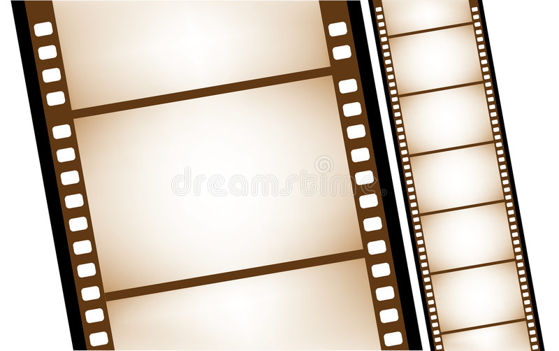Isolated old filmstrip in vector royalty free illustration