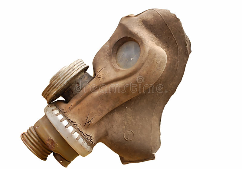 Download Isolated old gas mask stock photo. Image of equipment - 16843510