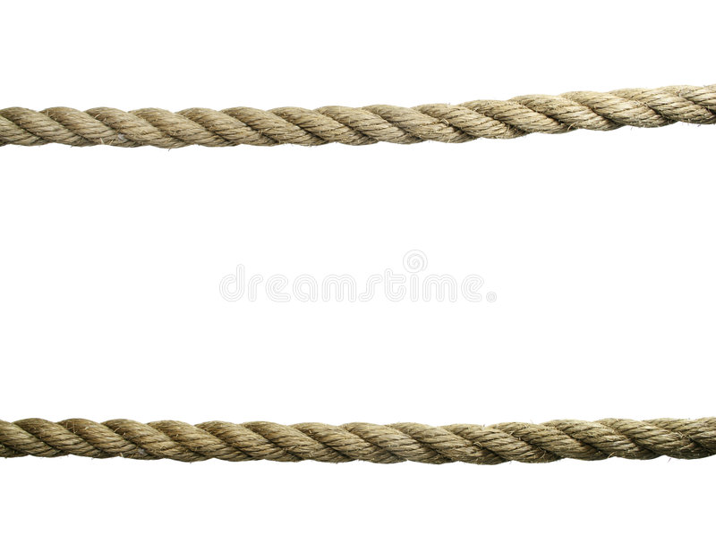 Isolated old ropes royalty free stock photos