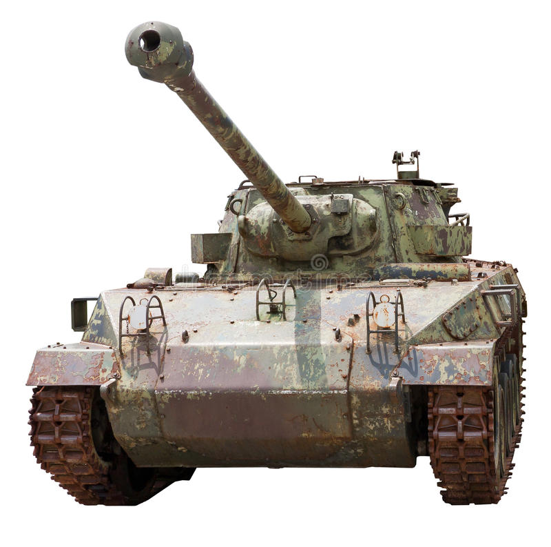Isolated old tank M18 Hellcat stock photography