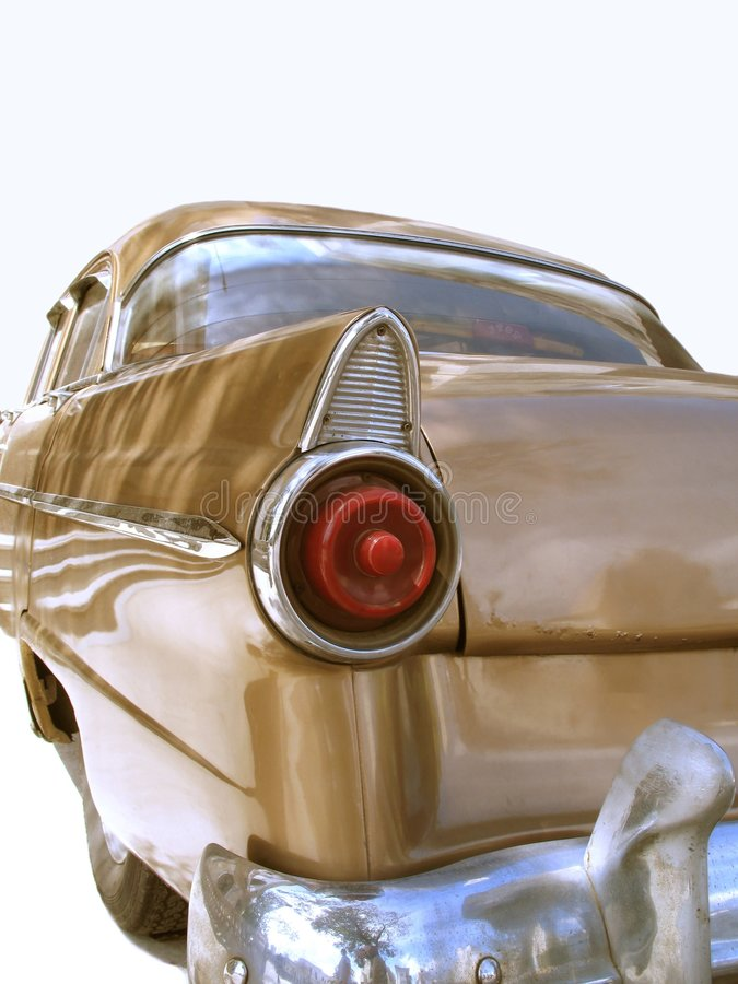 Isolated oldtimer detail royalty free stock photo