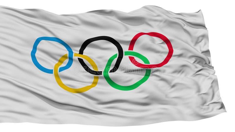 Isolated Olympic Flag royalty free illustration