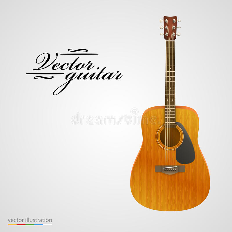 Free Isolated On White Acoustic Guitar. Royalty Free Stock Photos - 49417658