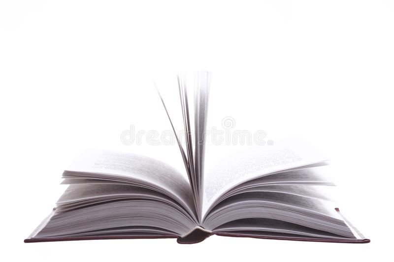 Isolated open book royalty free stock photography