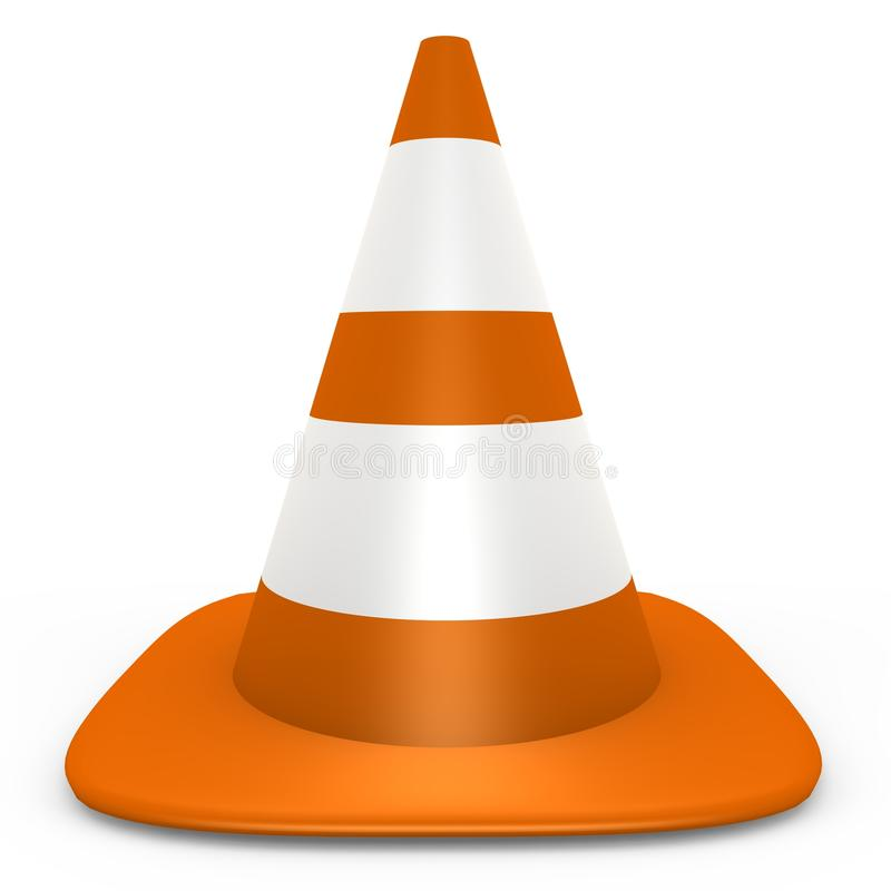 Download An Isolated Orange Traffic Cone - 3d Image Stock Illustration - Illustration: 12577953