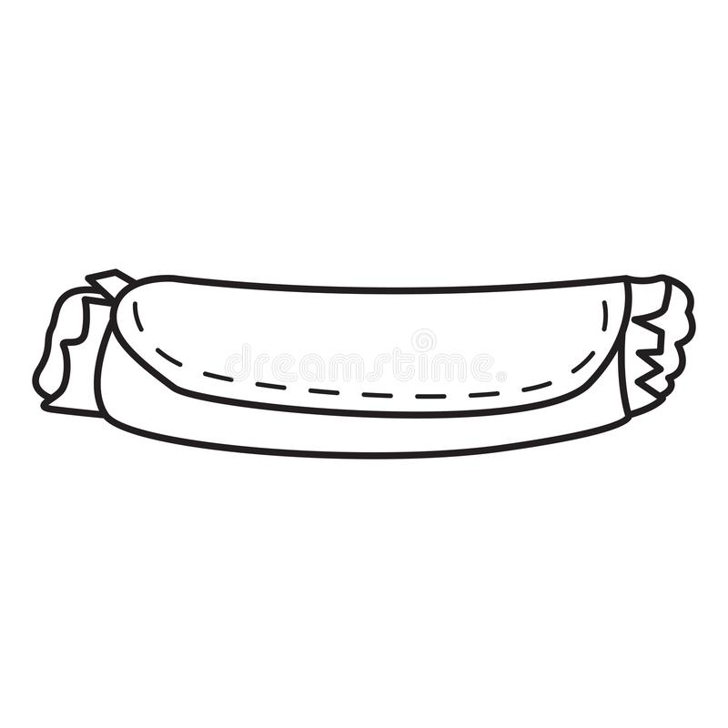 Isolated burrito outline royalty free illustration