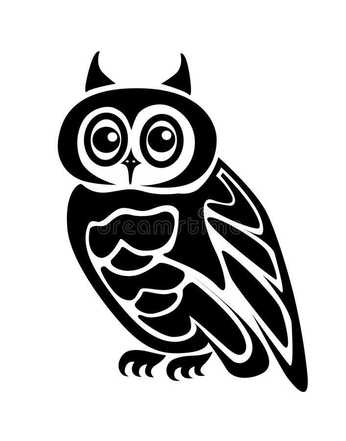 Download Isolated owl stock vector. Illustration of mammal, insignia - 10322320