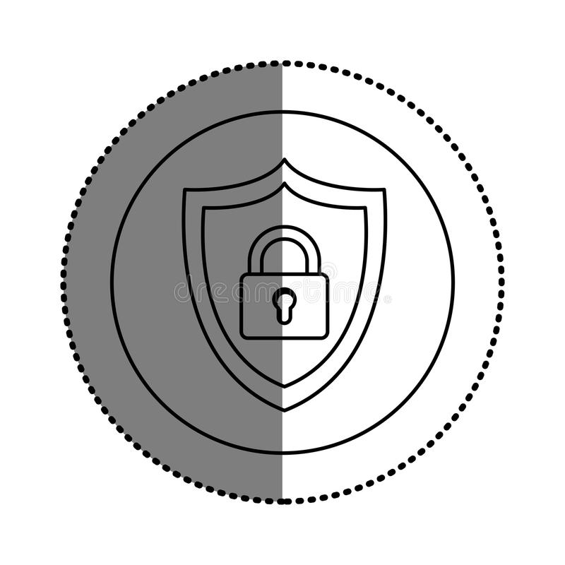 Isolated padlock design. Padlock icon. Insurance security protection and safety theme. Isolated design. Vector illustration vector illustration