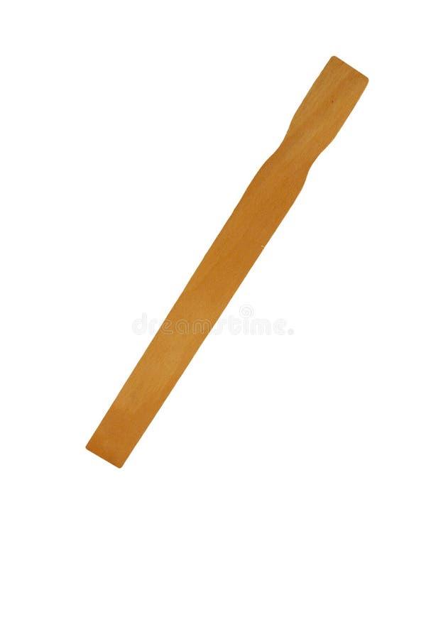 Isolated paint stirrer stick on white royalty free stock photo