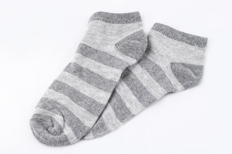 Isolated pair of socks. On white background royalty free stock photos