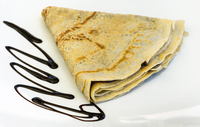 Isolated pancake stock photography