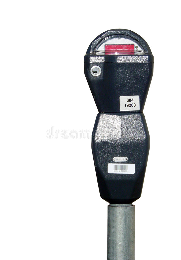 Download Isolated parking meter stock photo. Image of expired, drive - 85130