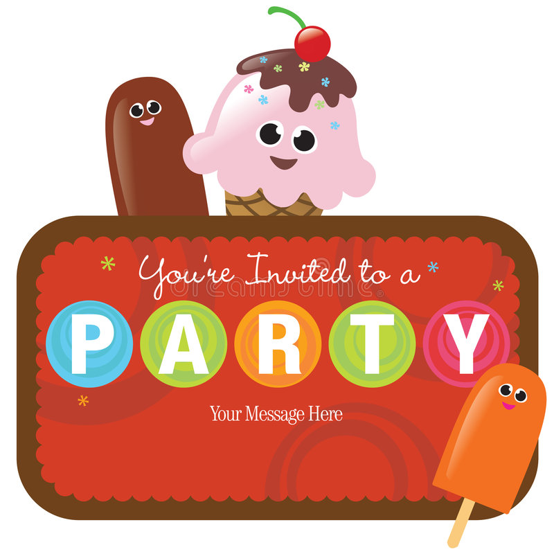 Isolated Party Invitation vector illustration