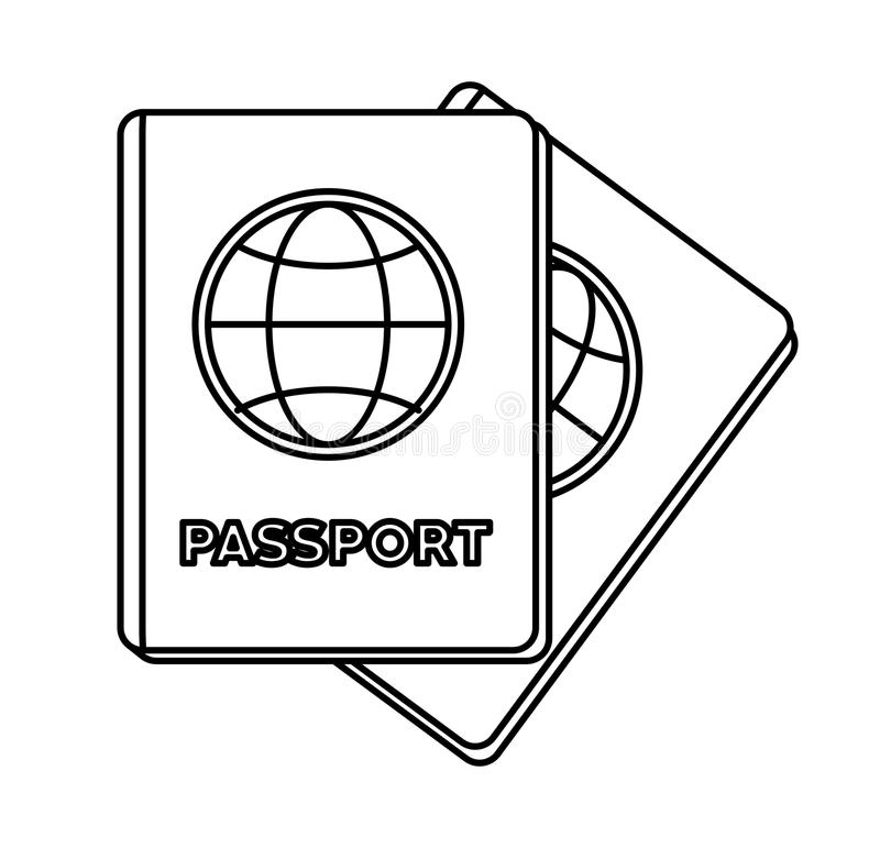 Isolated passport design. Passport icon. Travel trip vacation and tourism theme. Isolated design. Vector illustration vector illustration
