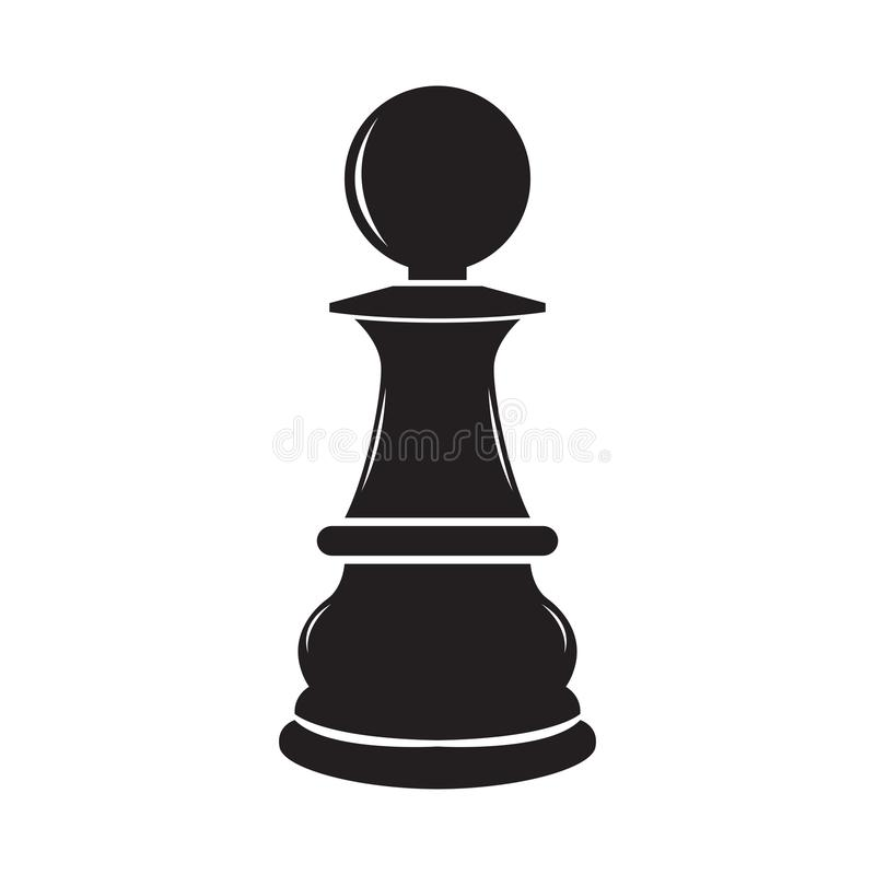 Free Isolated Pawn Chess Piece Icon Stock Images - 124645784