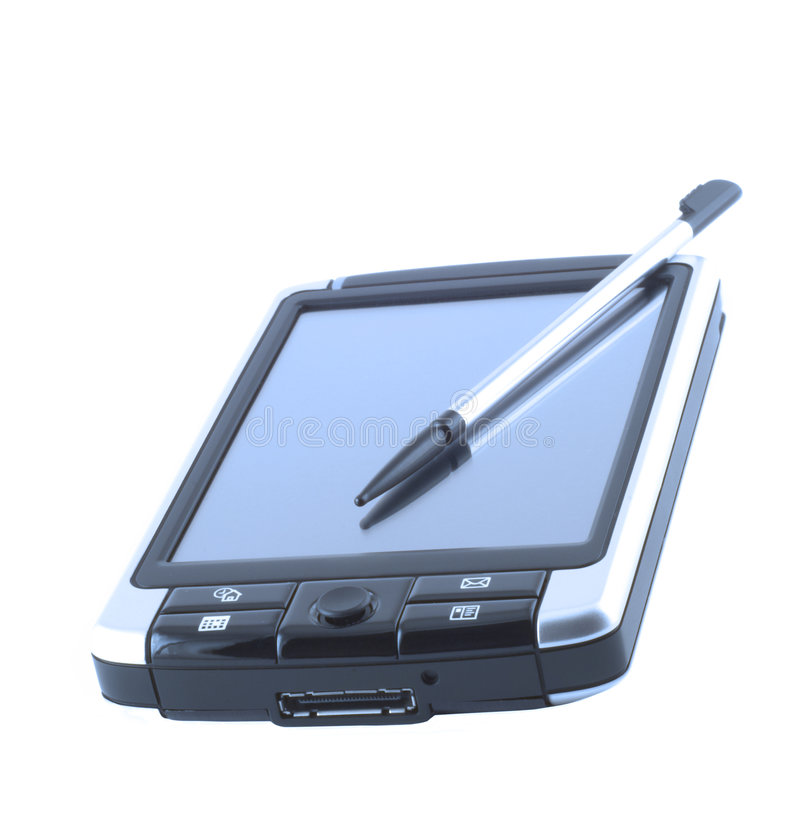 Download Isolated pda stock image. Image of palmtop, hand, office - 1672163
