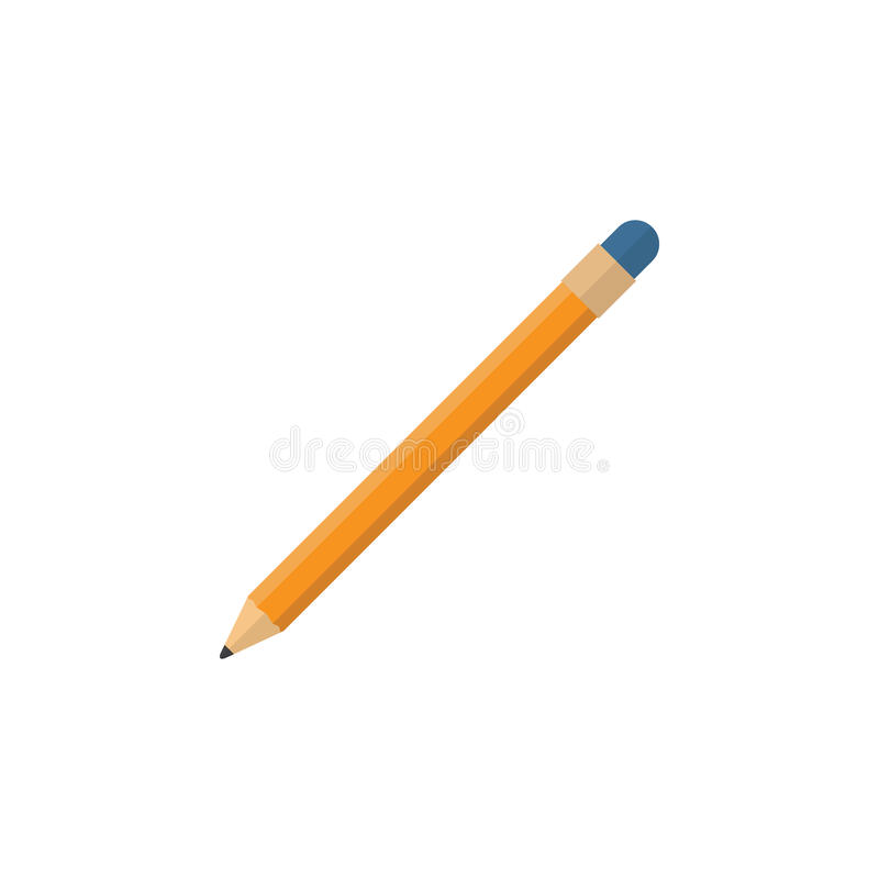 Isolated Pencil Flat Icon. Drawing Tool Vector Element Can Be Used For Pencil, Drawing, Tool Design Concept. stock illustration