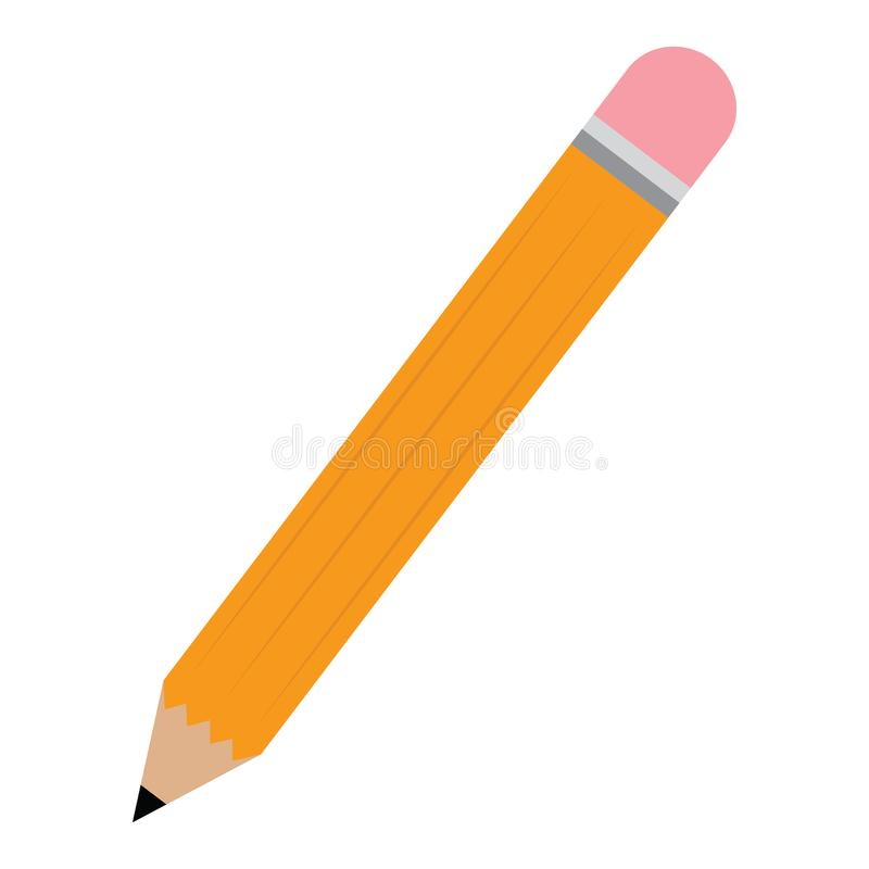 Isolated pencil image stock illustration