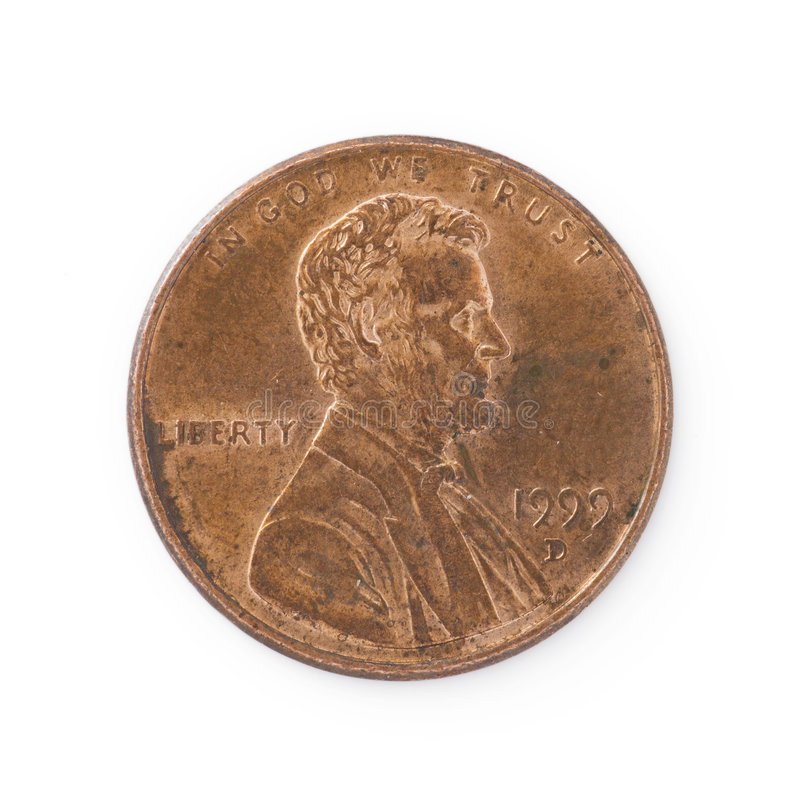 Download Isolated Penny stock photo. Image of lincoln, object, cent - 7839600