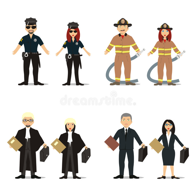 Isolated people with different occupations vector illustration