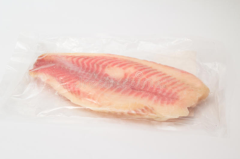 Isolated perch fillet. In pack royalty free stock photos